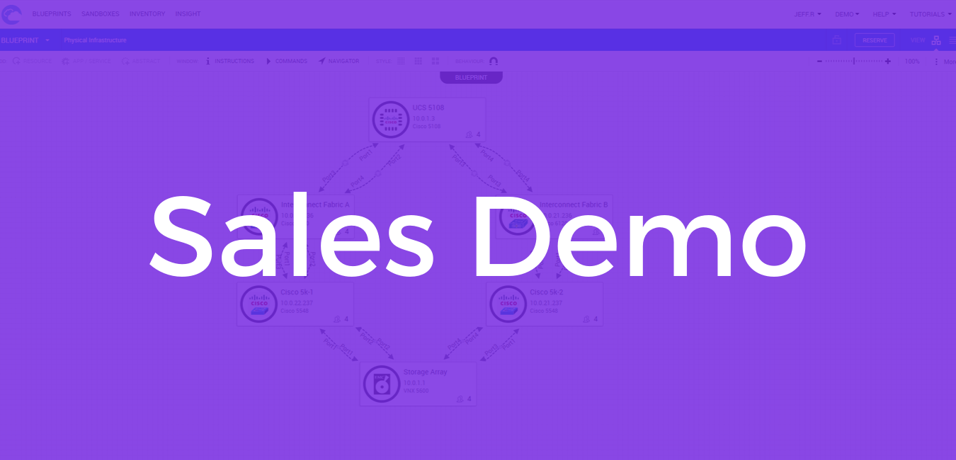 Sales Demo Screen overlay