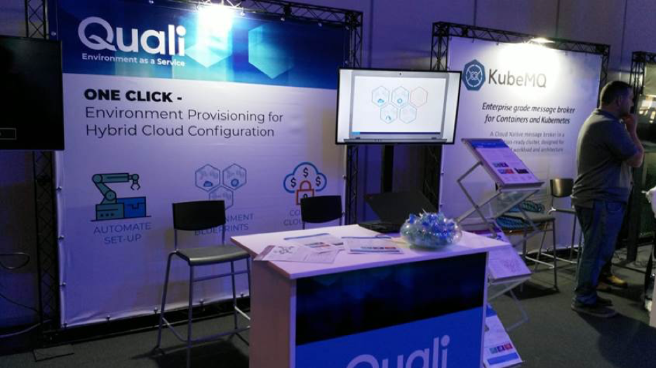 One-click environments on scale – Quali booth @ Hybrid Cloud & Kubernetes 2019